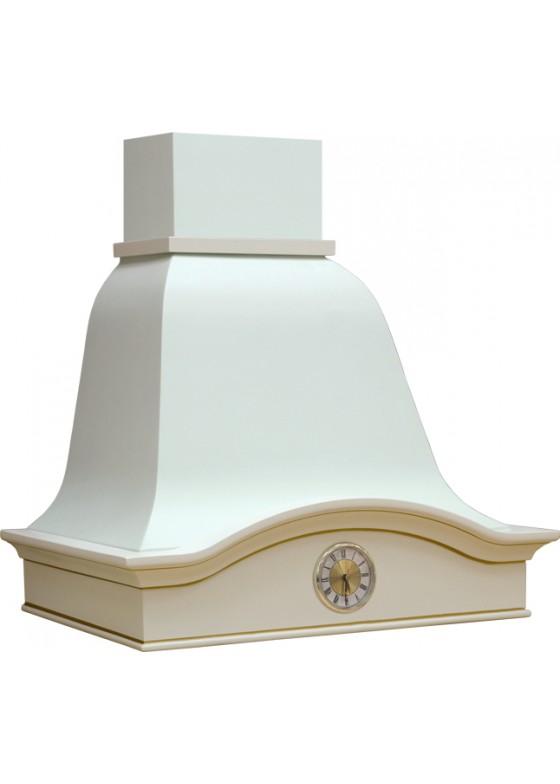 Vialona Cappe вытяжка Лилия 600 с часами бук/белый тонировкой золотом