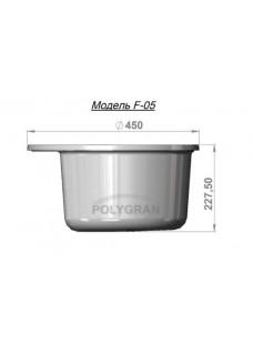 Кухонная мойка POLYGRAN F-05 Белый 26