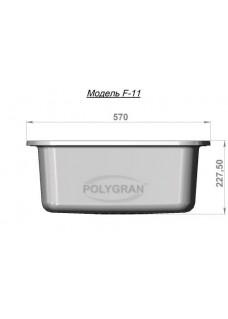 Кухонная мойка POLYGRAN F-11 Опал 328