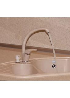 Смеситель кухонный высокий «ЭКО» в цвет мойки Polygran Опал 328