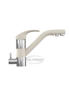 Смеситель кухонный в цвет мойки Polygran «Дуо» с возможностью подключения фильтра питьевой воды Хлопок 331