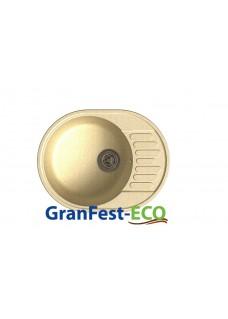 Кухонная мойка GranFest Eco 58 бежевая