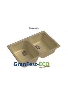 Кухонная мойка GranFest Eco 15 бежевый