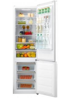 Холодильник Korting KNFC 62017 GW Белое Стекло