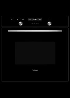 Духовой шкаф электрический MIDEA MO78101CGB Черный