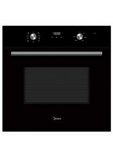 Встраиваемый электрический духовой шкаф Midea MO68101CGB Черное Стекло