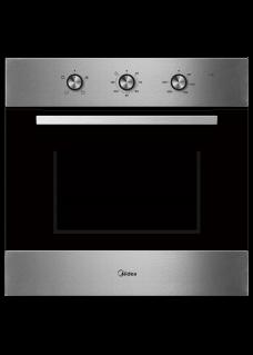 Духовой шкаф электрический встраиваемый Midea MO37001X Нержавеющая сталь и черное стекло