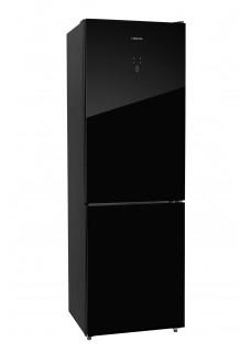 Холодильник двухкамерный HIBERG RFC-375DX NFGB Черное Стекло