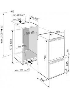 Встраиваемый холодильник Liebherr ICBNd5153