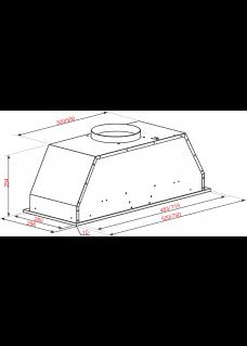 Вытяжка встраиваемая ATLAN SYP-3003 72 White Glass Белое Стекло 70 см
