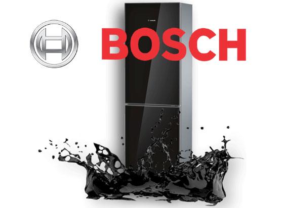 Черный глянцевый холодильник Bosch KGN39LB10