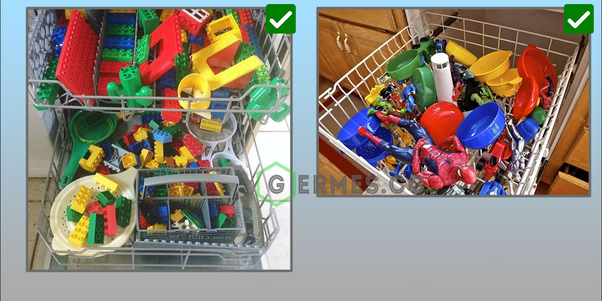 Отмыть детские игрушки в посудомойке